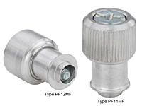 Large knob, spring-loaded –Types PF11MF and PF12MF