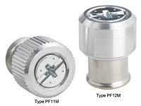 Large knob, spring-loaded –Types PF11M and PF12M Metric only