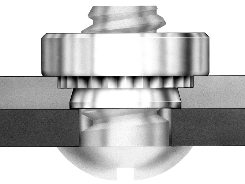CLS-M8-1 SP SS CLSS Pem Self-Clinching Nuts Metric Types S CLS
