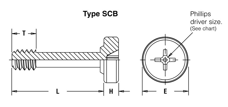 part   scb-m4-14zi  captive panel screw-tool only  spinning clinch bolt  no spring