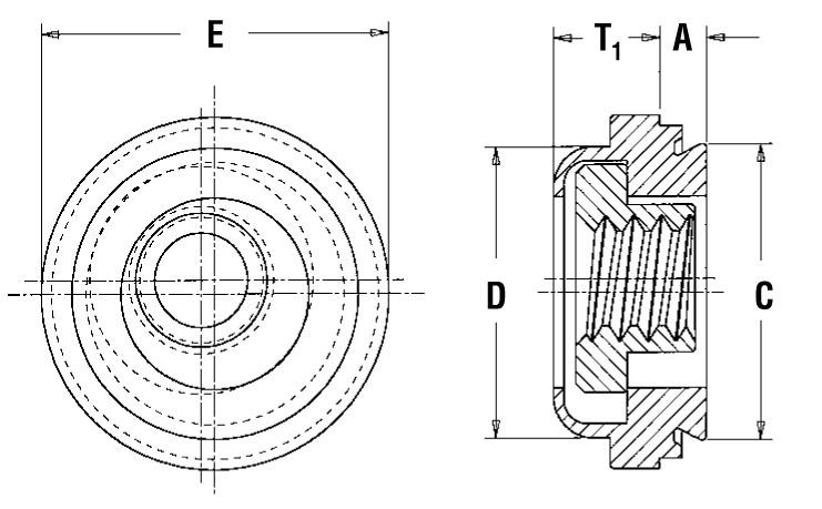 Pem Floating Self-Clinching Fasteners Type A4//AS//AC Metric AC-M3-1