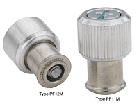 Large knob, spring-loaded –Types PF11M and PF12M