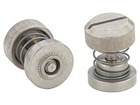 Low profile knob, spring-loaded - PF30, PF31, PF32