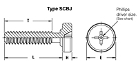 Captive panel screw-Tool only, spinning clinch bolt, no spring  - SCBJ 2