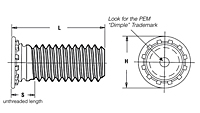 Self-Clinching Threaded Studs - Type FH/FHS/FHA 2