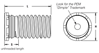 Low-Displacement Head Studs - Types FHL, FHLS 2